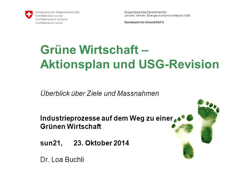 2 Grüne Wirtschaft | Sun21 Energiegespräche im Wenkenhof, 23.10.2014 Dr.
