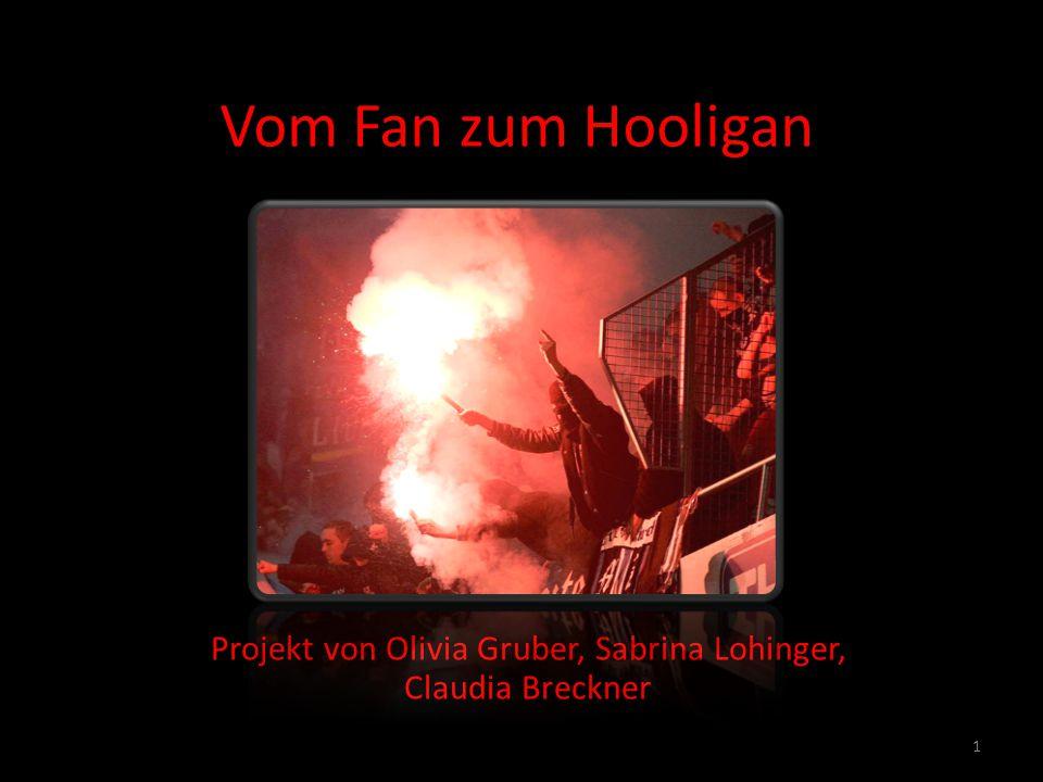 Inhalt Herkunft des Begriffes Hooligan Bedeutung Kultur und Geschichte Abgrenzung von Ultras (Fans) zu Hooligans Unterschiede Hooligans-Ultras (Fans) Besondere Merkmale (Musik, Waffen, Kleidung) Auseinandersetzungen Sicherheitsvorkehrungen Statistik Filmausschnitt 2