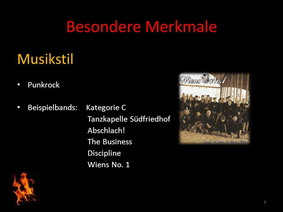 Besondere Merkmale Musikstil Punkrock Beispielbands: Kategorie C Tanzkapelle Südfriedhof Abschlach.
