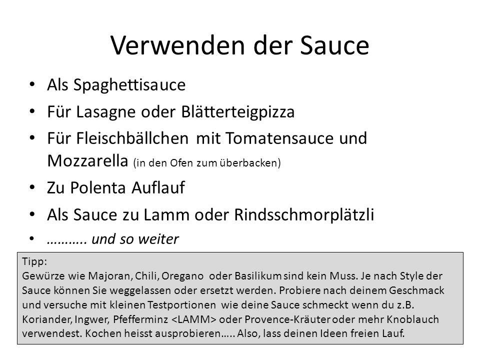 Verwenden der Sauce Als Spaghettisauce Für Lasagne oder Blätterteigpizza Für Fleischbällchen mit Tomatensauce und Mozzarella (in den Ofen zum überback