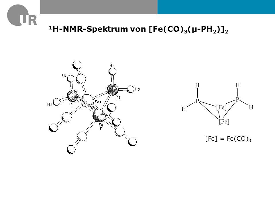 1 H-NMR-Spektrum von [Fe(CO) 3 (µ-PH 2 )] 2 [Fe] = Fe(CO) 3