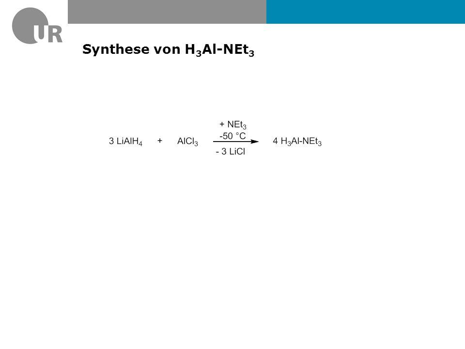 1 H-NMR-Spektrum von (Me 3 Si) 2 CHSbH 2 (ppm) 0.00.51.01.52.0 CH 3 CH SbH 3 J HH = 5.86 Hz IR: SbH = 1860 cm -1 3 J HH = 5.86 Hz