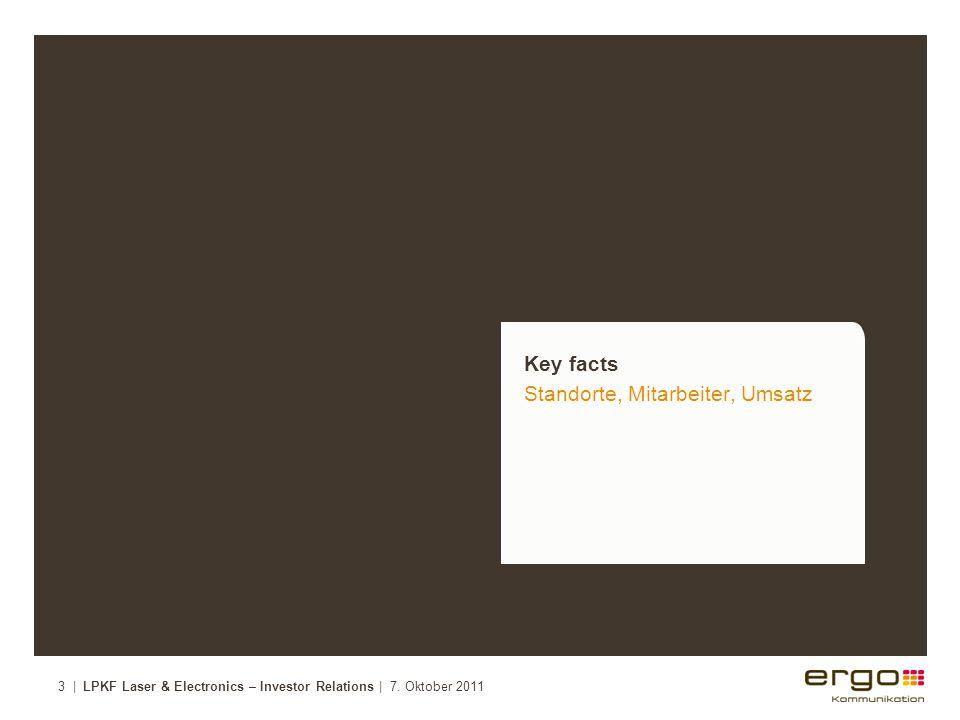 Key facts Standorte, Mitarbeiter, Umsatz 3 | LPKF Laser & Electronics – Investor Relations | 7.