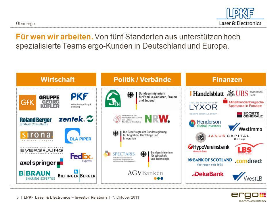 Politik / VerbändeFinanzen Wirtschaft Für wen wir arbeiten.