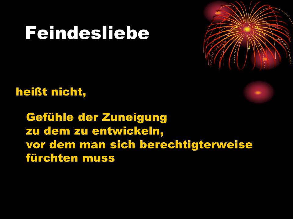 Feindesliebe erfordert die Bereitschaft, die Würde jedes Menschen zu achten www.hanglberger-manfred.de