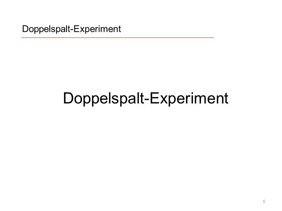 Doppelspalt-Experiment 6