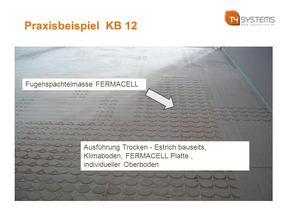 Fugenspachtelmasse FERMACELL Ausführung Trocken - Estrich bauseits, Klimaboden, FERMACELL Platte, individueller Oberboden