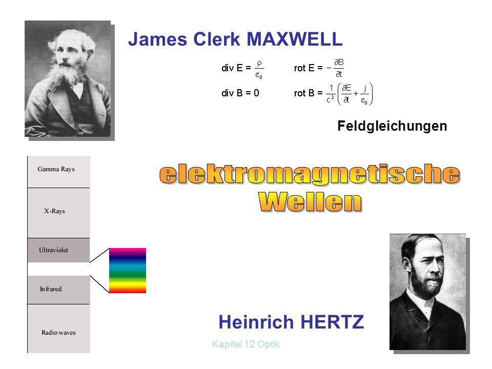 Kapitel 12 Optik5 A B E C F 11 11 22 22 Brechungsgesetz von Snellius