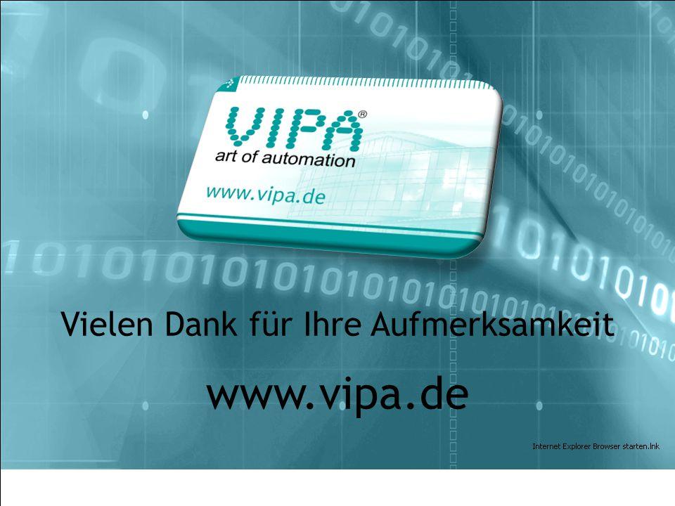VIPA HMI| August 2010 Vielen Dank für Ihre Aufmerksamkeit www.vipa.de