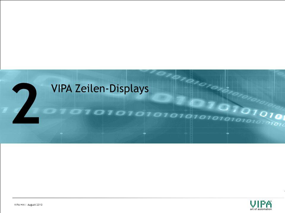 VIPA HMI| August 2010 2 VIPA Zeilen-Displays