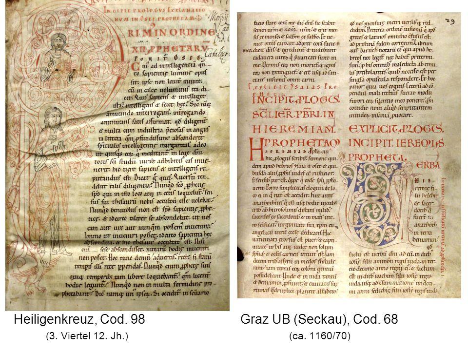 Heiligenkreuz, Cod. 98 Graz UB (Seckau), Cod. 68 (3. Viertel 12. Jh.) (ca. 1160/70)