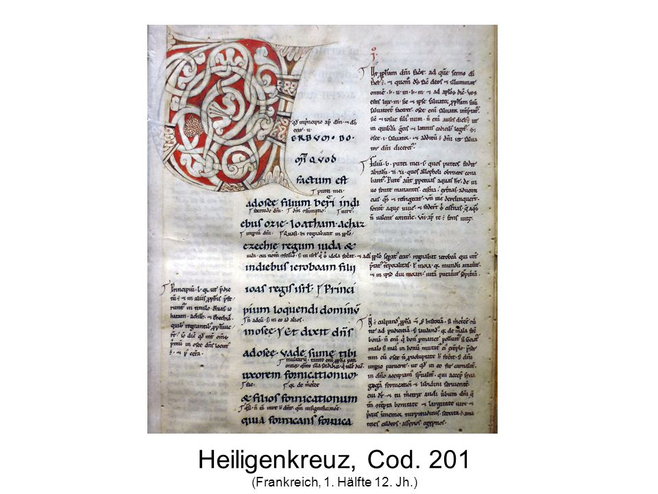 Heiligenkreuz, Cod. 201 (Frankreich, 1. Hälfte 12. Jh.)