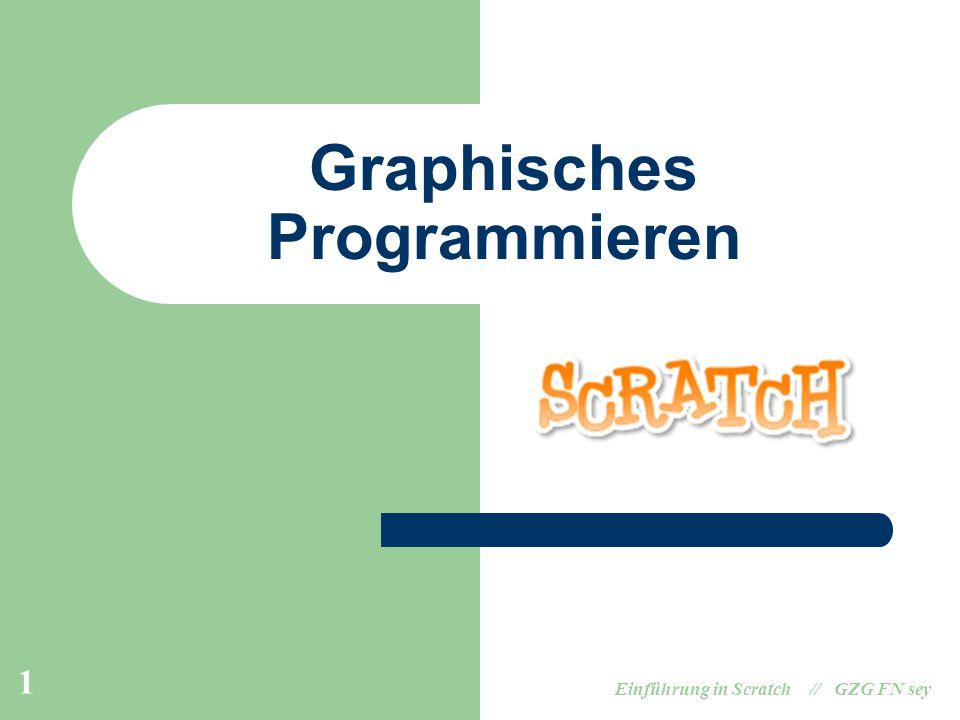 Einführung in Scratch // GZG FN sey 1 Graphisches Programmieren