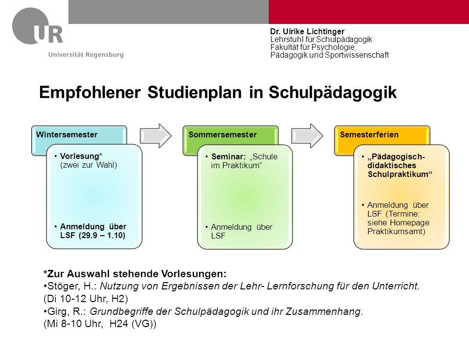 Auszug aus der Modulbeschreibung zum Teilfach 3: Psychologie Nr.VeranstaltungSW S LP A.