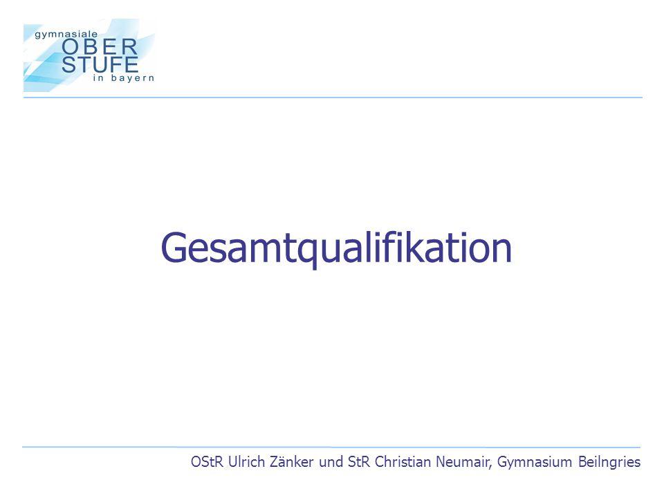 OStR Ulrich Zänker und StR Christian Neumair, Gymnasium Beilngries Gesamtqualifikation