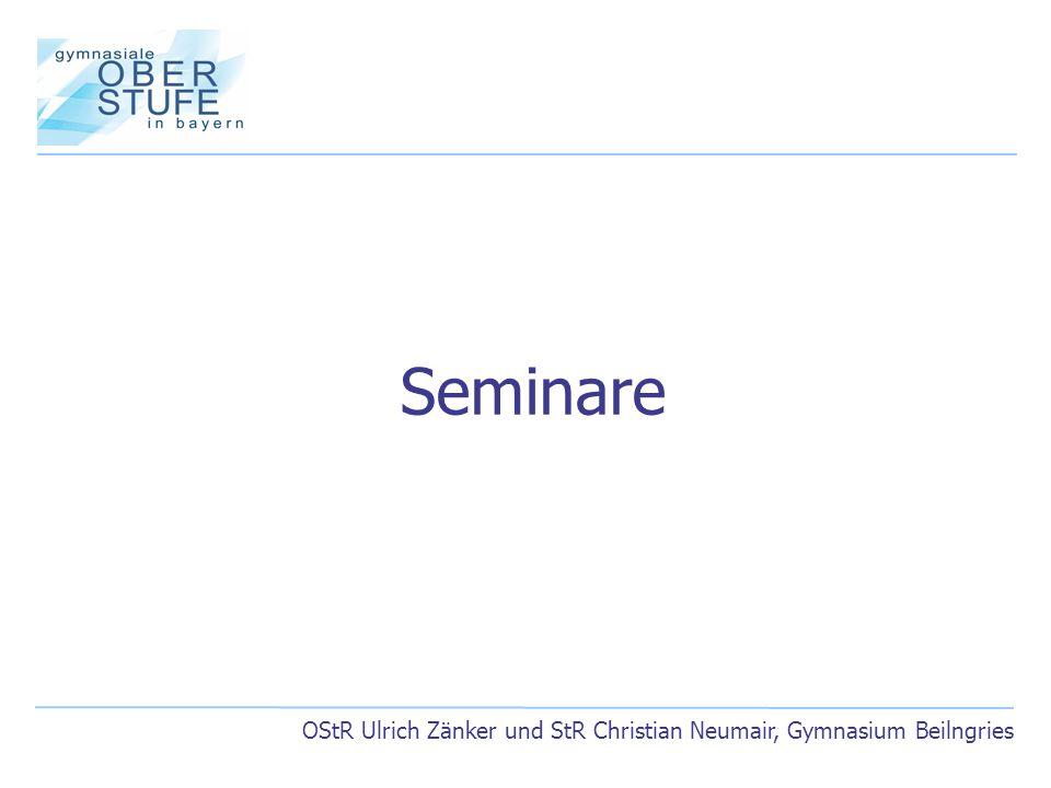 OStR Ulrich Zänker und StR Christian Neumair, Gymnasium Beilngries Seminare