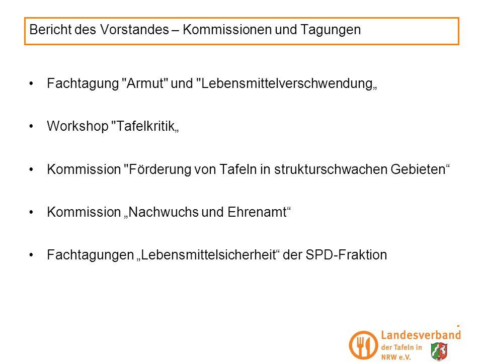 Bericht des Vorstandes – Kommissionen und Tagungen Fachtagung