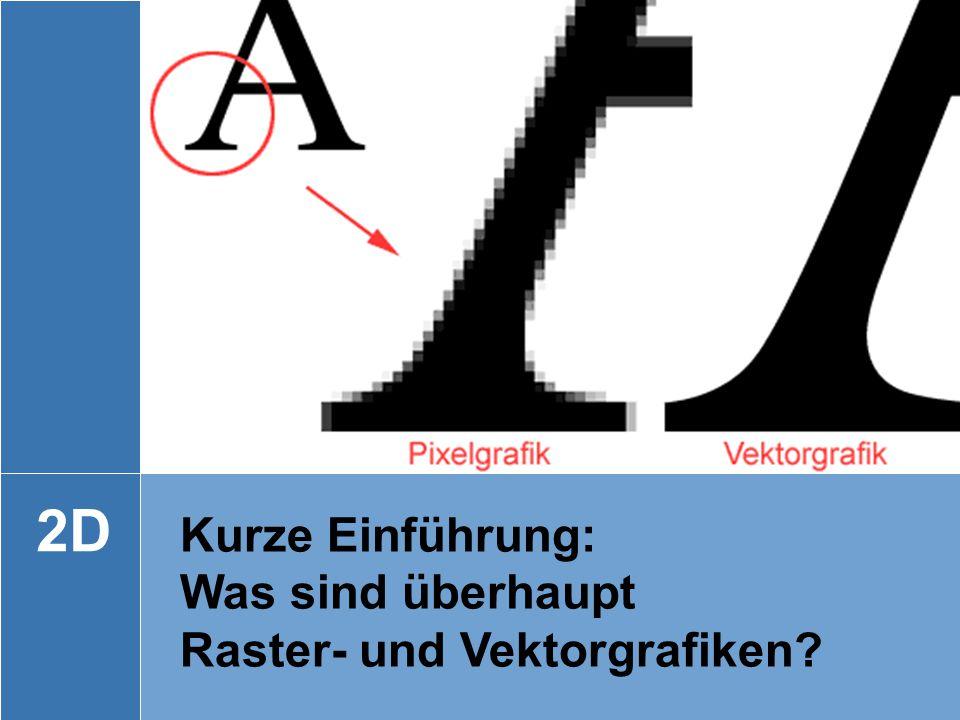 HU Berlin | Computergrafik | Referenten: Paul Aurin, Maximilian Koch, Walter Wolf 3 Kurze Einführung: Was sind überhaupt Raster- und Vektorgrafiken? 2