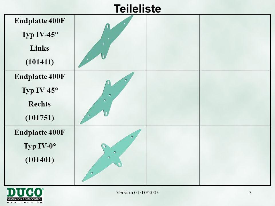 Version 01/10/20056 Teileliste Lamelle 100F (101481) Lamelle 250F (101801) Lamelle 150F (101121) Lamelle 300F (101111) Lamelle 200F (101101) Lamelle 350F (101491)