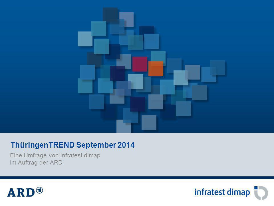 Eine Umfrage von infratest dimap im Auftrag der ARD ThüringenTREND September 2014