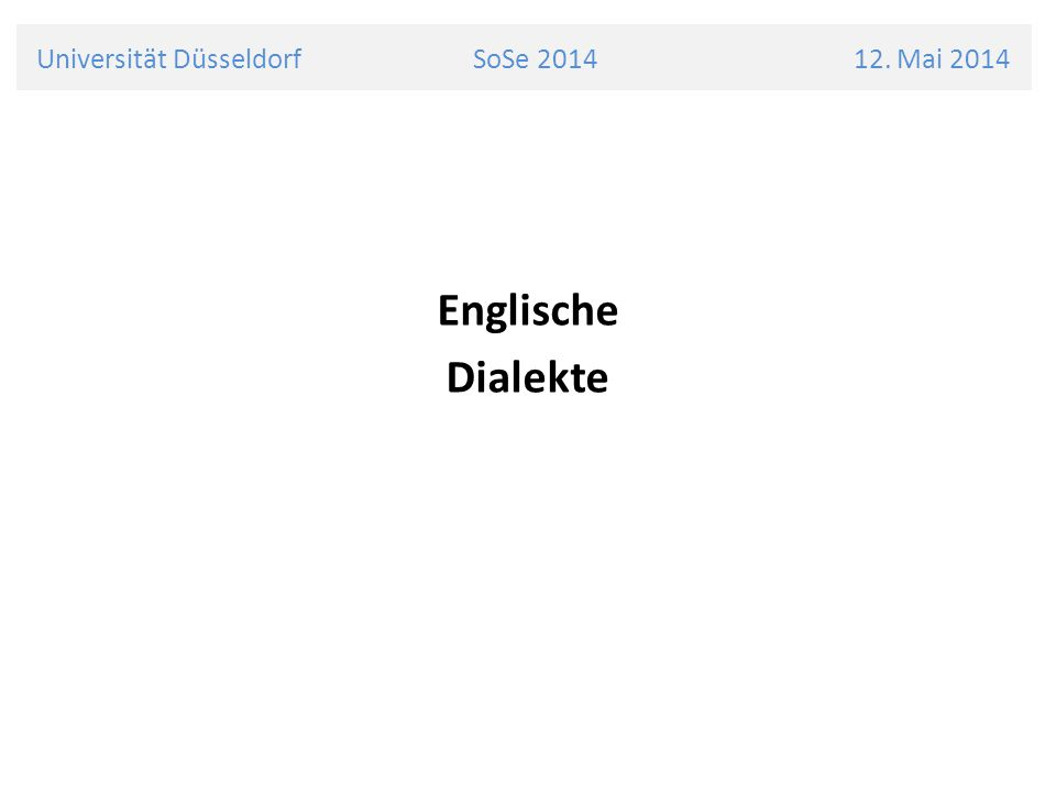 Universität Düsseldorf SoSe 2014 12.