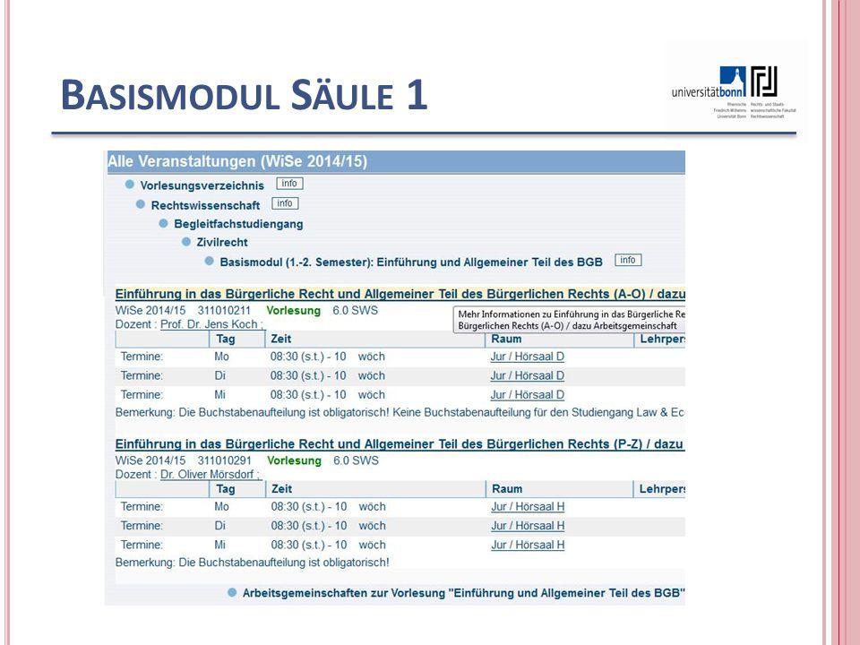 B ASISMODUL S ÄULE 1