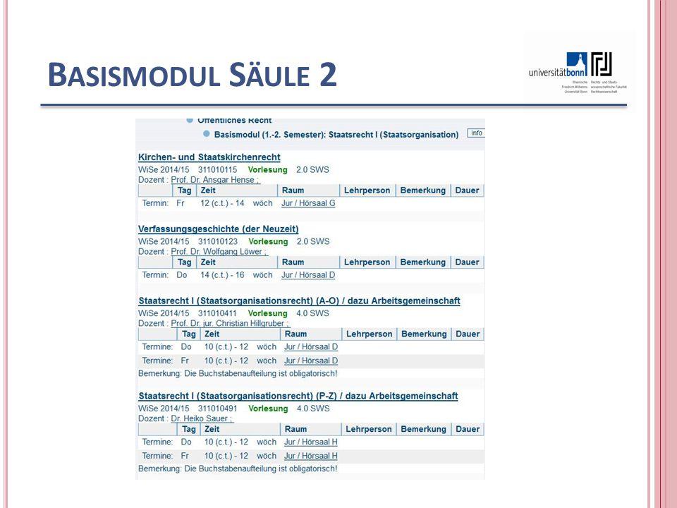 B ASISMODUL S ÄULE 2