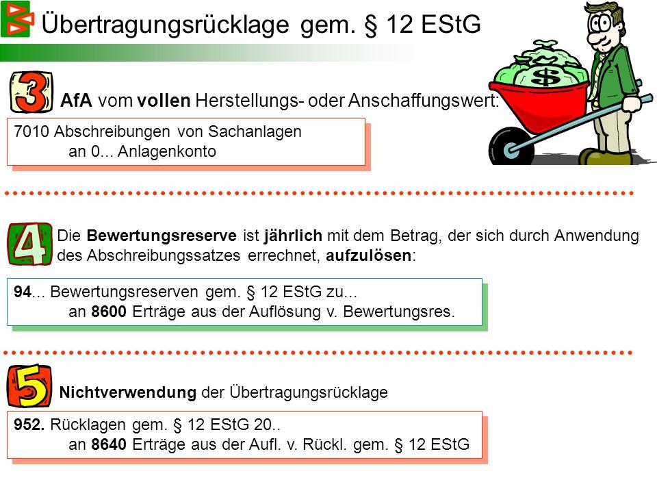 8800 Zuweisungen an die Bewertungsreserven gem.§ 12 EStG an 94..
