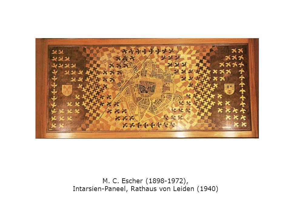 M. C. Escher (1898-1972), Intarsien-Paneel, Rathaus von Leiden (1940)