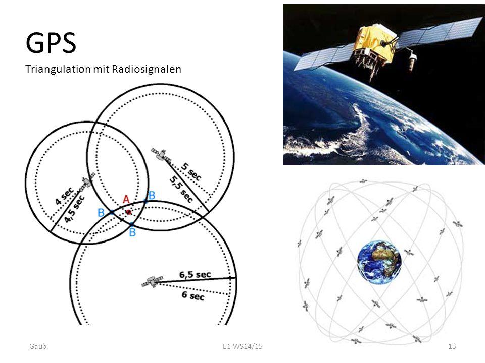 GPS Triangulation mit Radiosignalen Gaub13E1 WS14/15