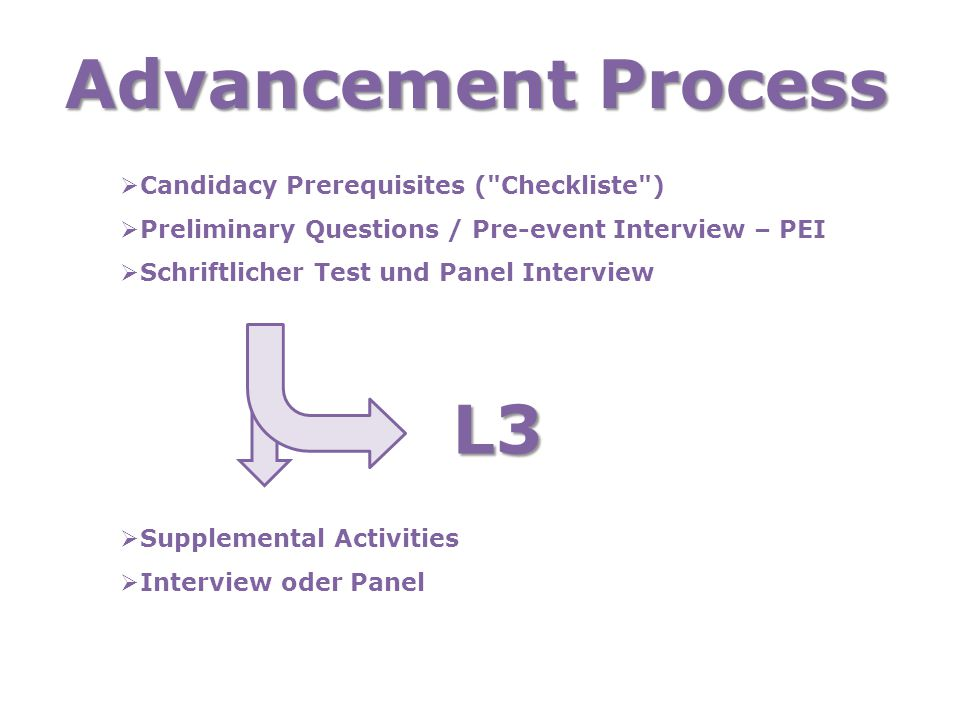 Advancement Process  Candidacy Prerequisites (