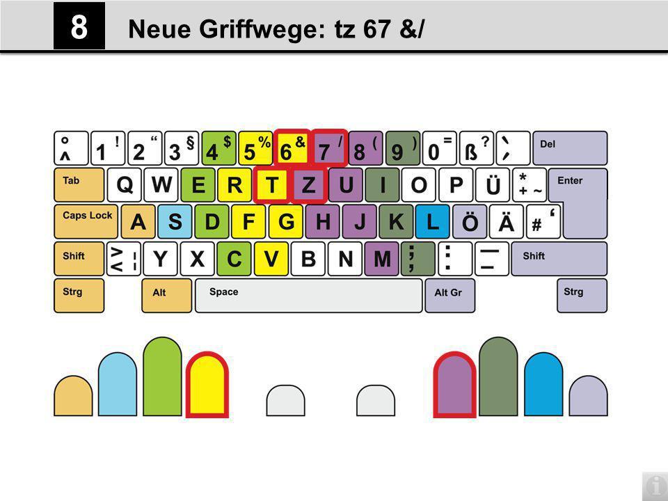 Neue Griffwege: tz 67 &/ 8