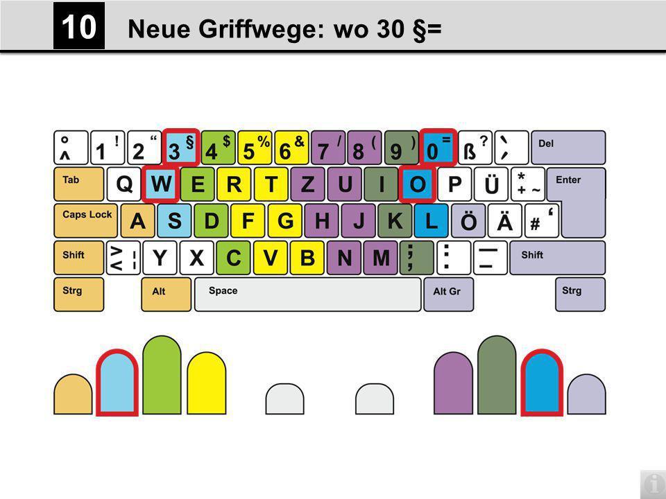 Neue Griffwege: wo 30 §= 10