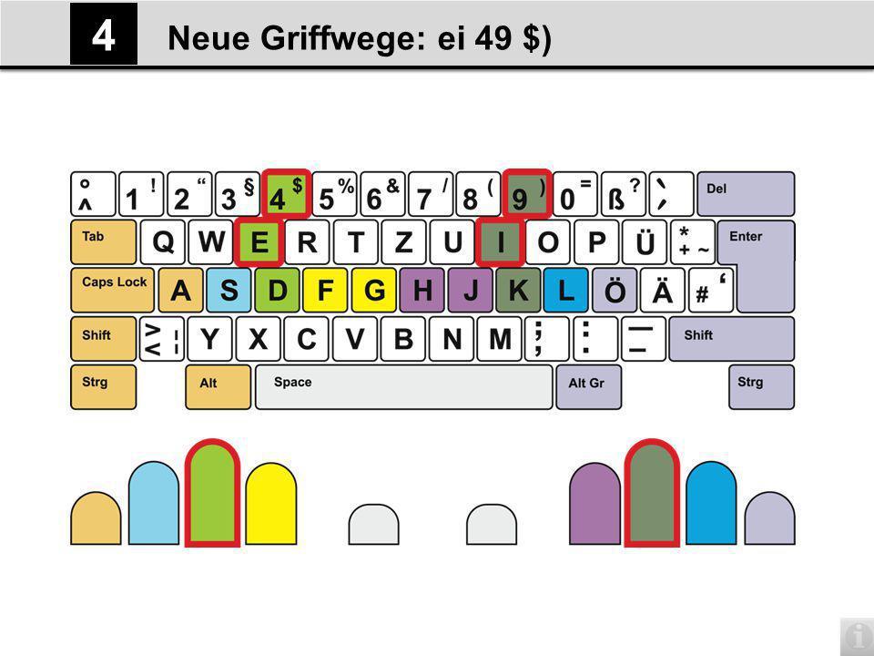 Neue Griffwege: c,; 5