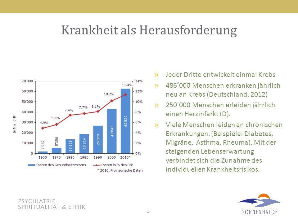33 Krankheit als Herausforderung »Jeder Dritte entwickelt einmal Krebs »486´000 Menschen erkranken jährlich neu an Krebs (Deutschland, 2012) »250´000