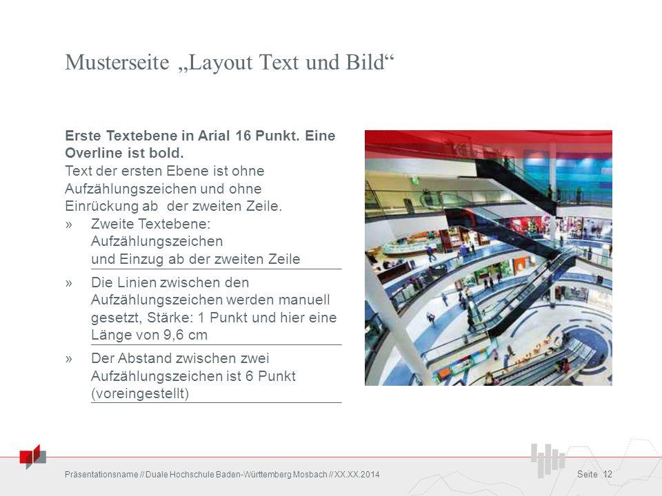 """Musterseite """"Layout Text und Bild"""" Erste Textebene in Arial 16 Punkt. Eine Overline ist bold. Text der ersten Ebene ist ohne Aufzählungszeichen und oh"""