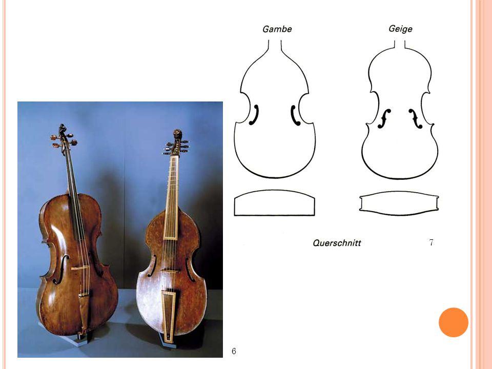 """D AS B AROCKCELLO das barocke Griffbrett: deutlich kürzer (die meisten Kompositionen verlangten keine so hohen Töne) Darmsaiten Stachel: ursprünglich bei tiefen Instrumenten ein etwa 15 cm langer Stachel (""""Continuo-Cello oder """"Basse de Violon ) – als dann aber in der 2."""