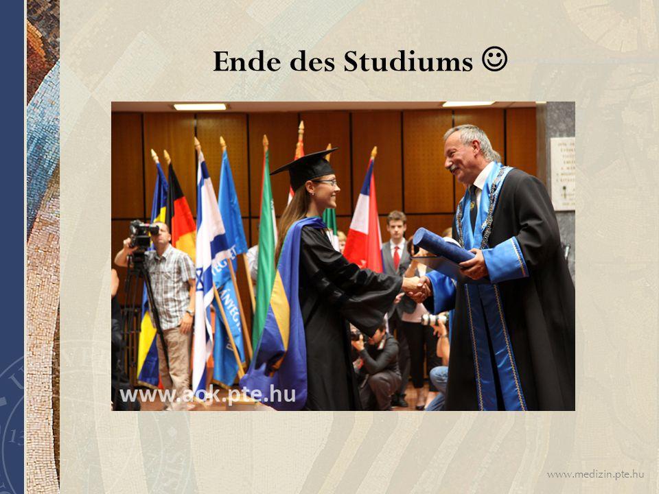 www.medizin.pte.hu Ende des Studiums