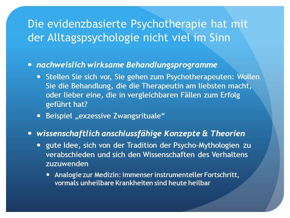 Problem der wissenschaftlich begründeten Psychotherapie Zwischen der alltagspsychologisch thematisierten Sphäre des Mentalen Bewusstsein: subjektives Erleben, selbstreflexives Denken Soziale Diskurse: Bedeutung, Sinn, Inhalte...
