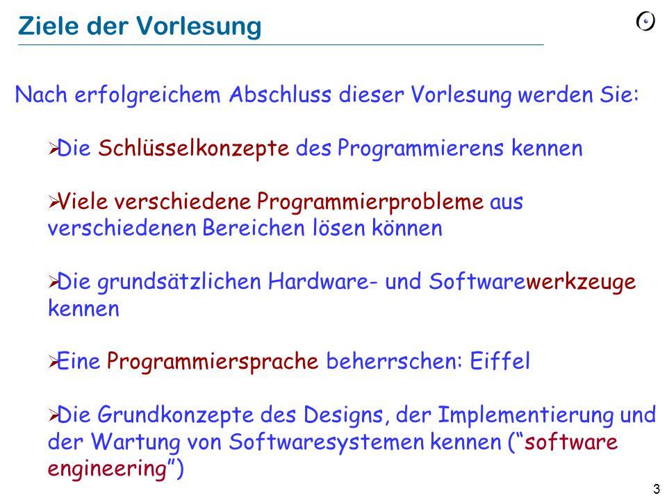 84 Software Engineering Schreiben von Software, die folgende Eigenschaften besitzt:  Korrekt Macht was sie soll.
