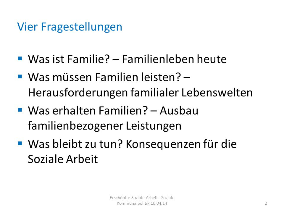 Was ist Familie.