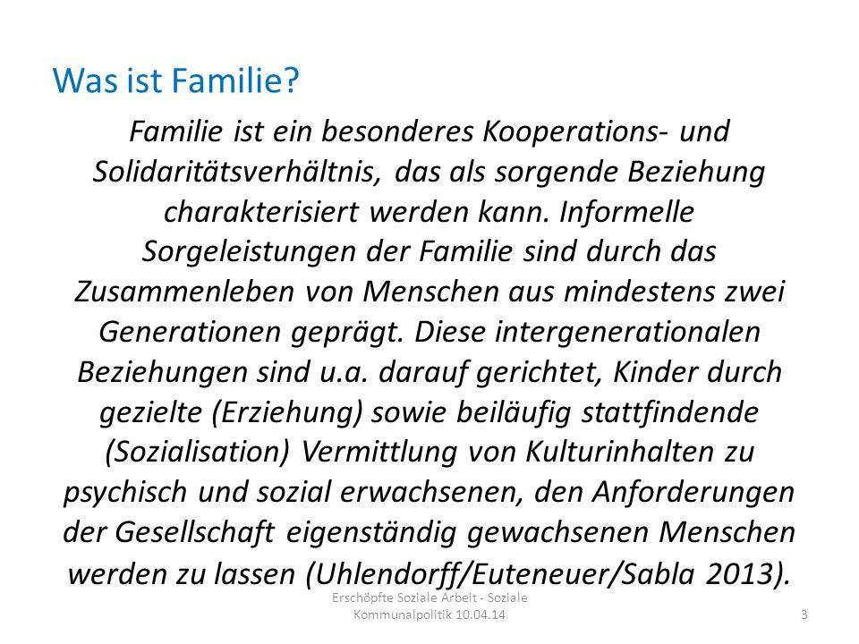 Was ist Familie? Familie ist ein besonderes Kooperations- und Solidaritätsverhältnis, das als sorgende Beziehung charakterisiert werden kann. Informel