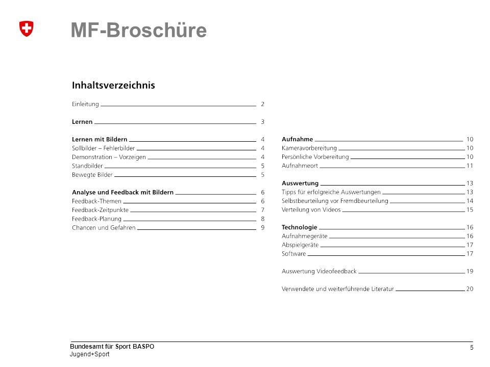 6 Bundesamt für Sport BASPO Jugend+Sport MF-Broschüre