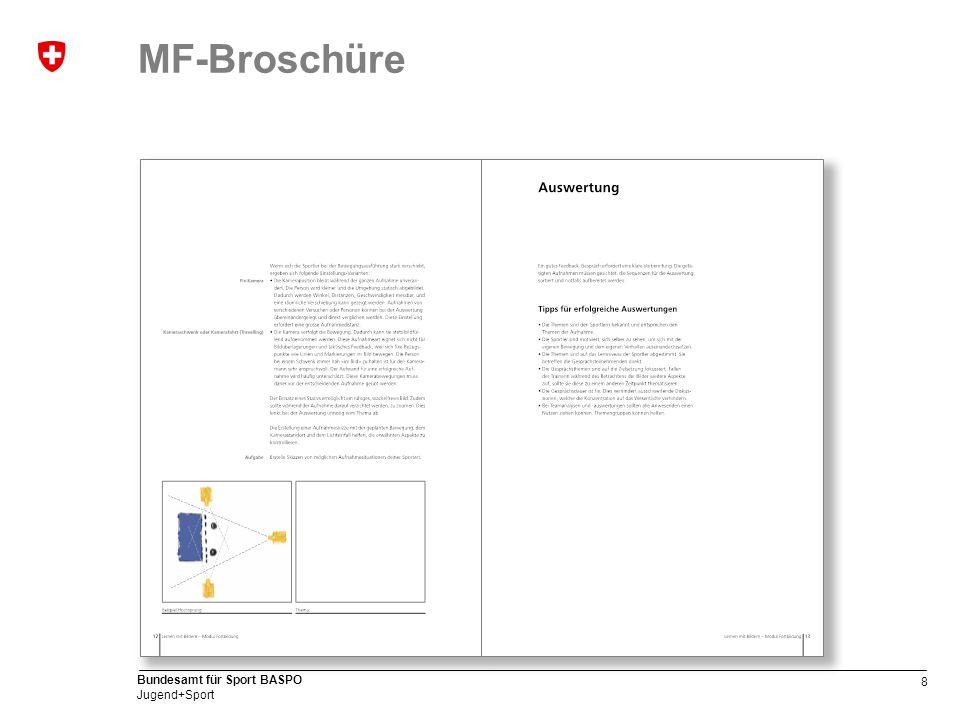 8 Bundesamt für Sport BASPO Jugend+Sport MF-Broschüre
