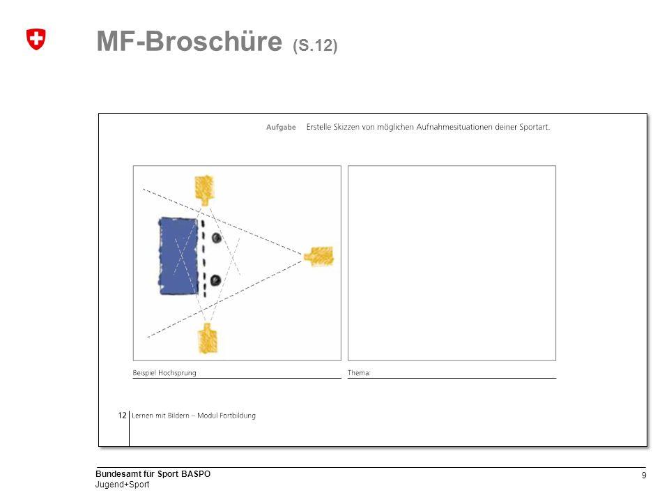 9 Bundesamt für Sport BASPO Jugend+Sport MF-Broschüre (S.12)