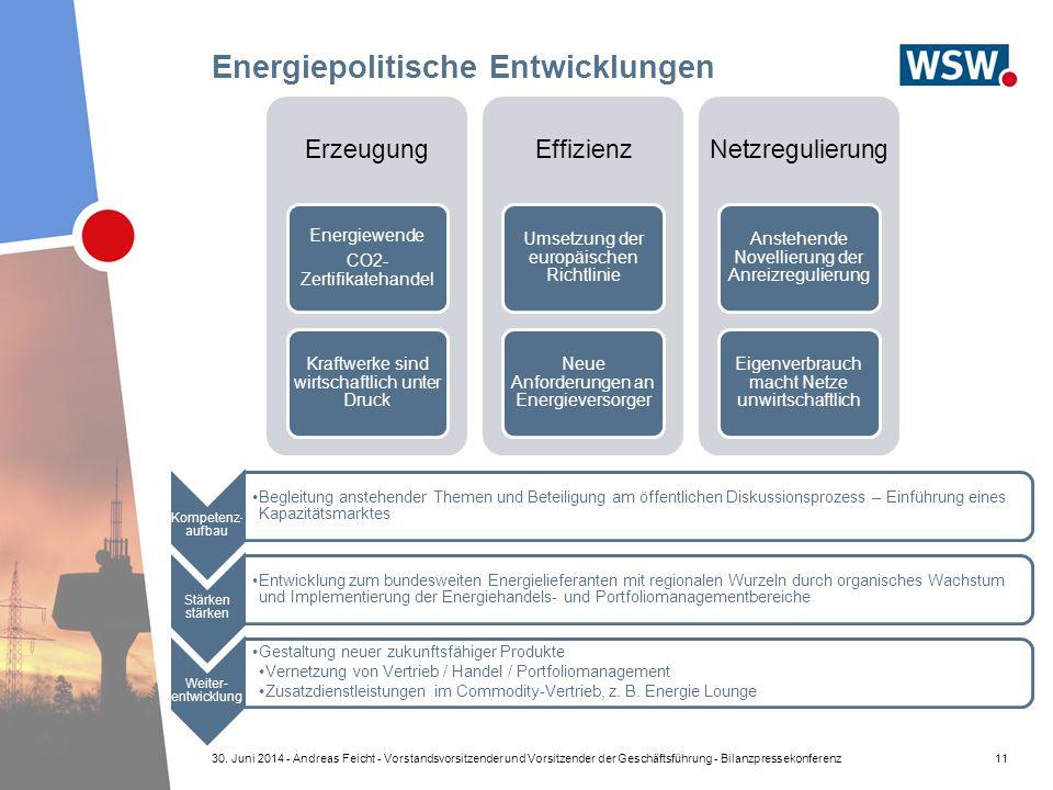 Energiepolitische Entwicklungen Kompetenz- aufbau Begleitung anstehender Themen und Beteiligung am öffentlichen Diskussionsprozess – Einführung eines