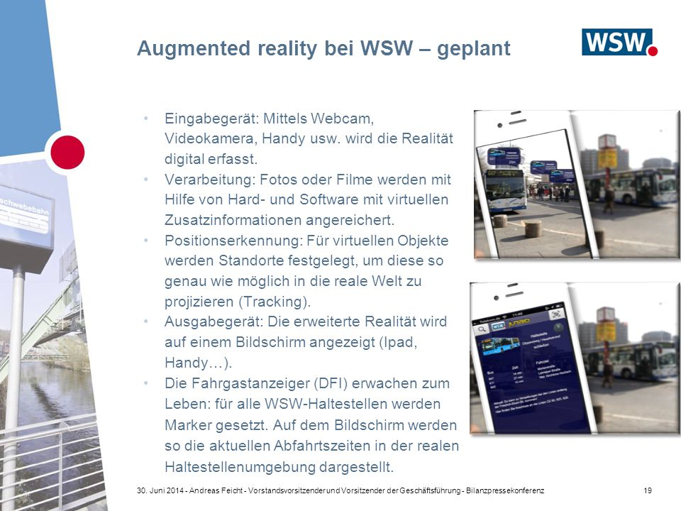 Augmented reality bei WSW – geplant 1930.