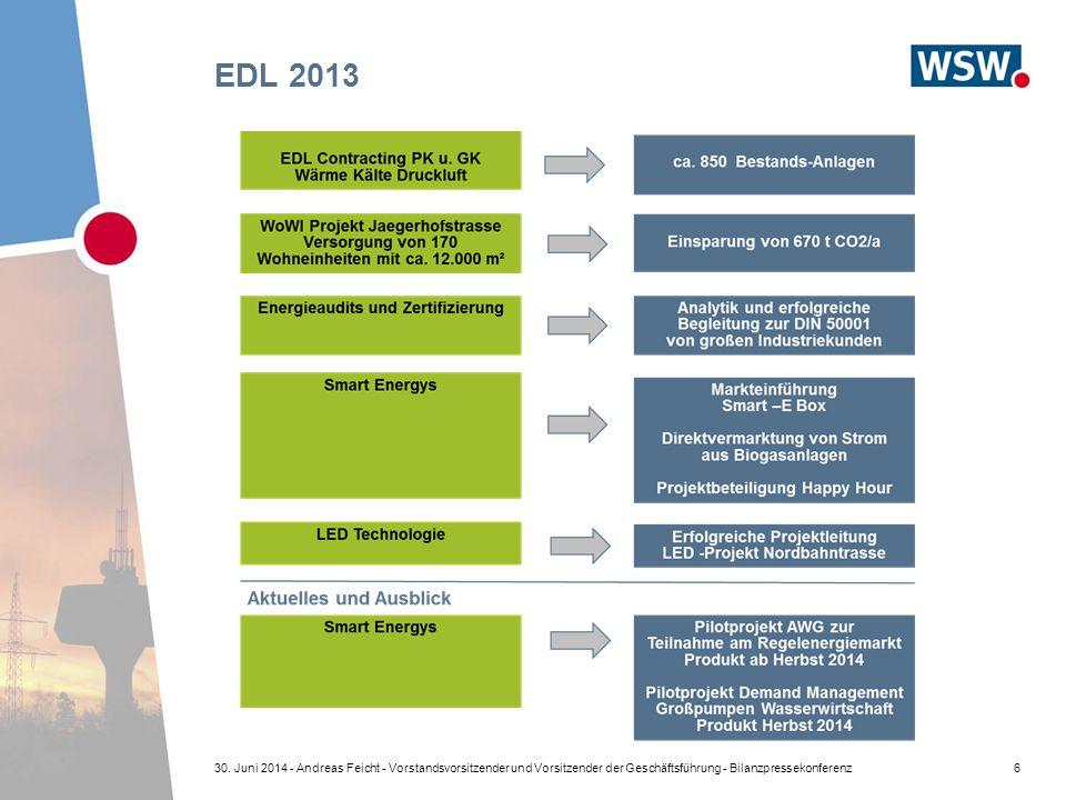 EDL 2013 630. Juni 2014 - Andreas Feicht - Vorstandsvorsitzender und Vorsitzender der Geschäftsführung - Bilanzpressekonferenz