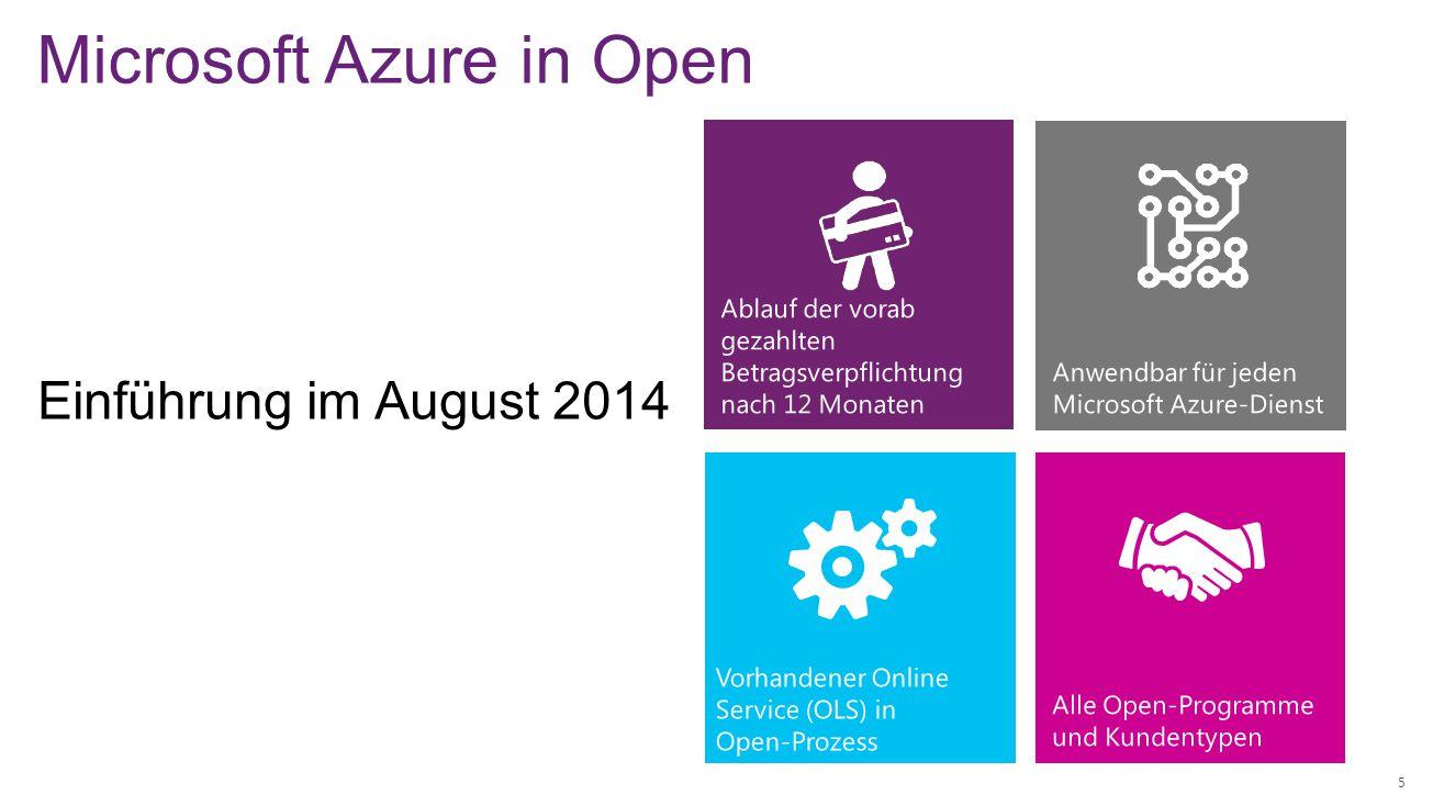 Microsoft Azure in Open 5