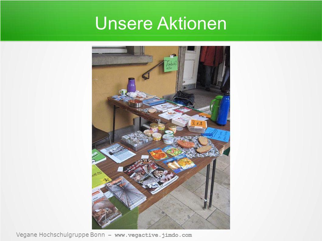 Vegane Hochschulgruppe Bonn – www.vegactive.jimdo.com Hier könnte Ihre Frage stehen!